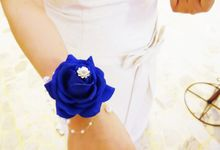Wedding Accessories in rose blue for Yessika by Art of ME