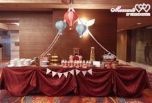 Wedding Styling - Hot Air Balloon Travel Theme by Moments by Stirring Hearts