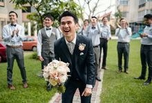 A Blush Garden Church Wedding by AROF (A ROOMFUL OF FLOWERS)