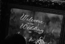 Wedding Signage for Arvin & Sandy Wedding Reception by Lettering and Life