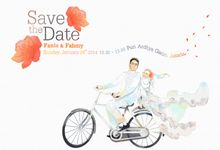 Fania & Fahmi Wedding Invitation Illustration by Trinka Motion Klip