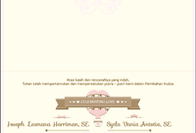 The Wedding of Joseph & Syela by Indah Baru