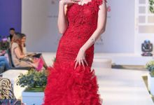 True Red Prada Lace - Couture Gown by Anita Cynthia Couture