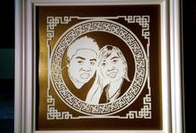 Papercutting wedding gift by TELATEN