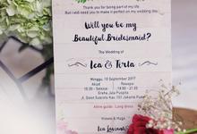 Ica Bridesmaid Card by Tixxy Design