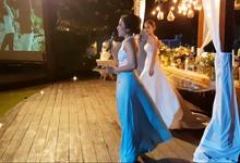 Ken & Angela's Wedding Reception at Pandawa Cliff Estate by MC Nirmala Trisna