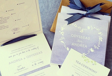 Andrea & Odysseas Wedding by My Sweet Scarlett Paperie
