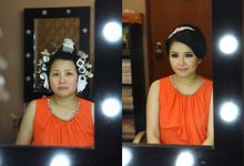 Makeup and Hairdo for Bride by Lee Cinthya Makeup Artist