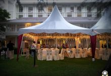 Tent Rental & Decoration for Garden Wedding by Glammories