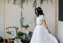 Greenery & Geometric Theme Styled Shoot by fire, wood & earth