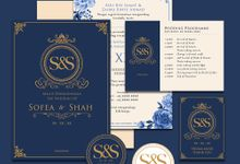 The Royal Inspired Wedding Invitation by Letter and Brusher