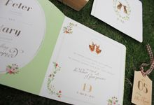 Peter Rabbit tying the knot by Cameo