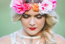 Boho Hair and makeup by Tiara bridal artistry