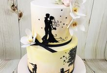 Engagement cake by Miss Shortcakes