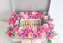 Velvet Bloom Box by Amarante Flower Boutique
