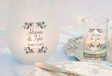 Tiffany Blue Table Setting by WeddingCandles.com