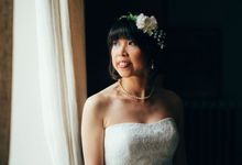 THE BRIDE & HER FLOWER GIRL by Marie by Belle Pivoine