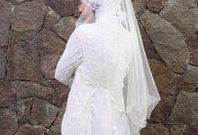 Wedding Dres Muslimah Brocade by Wedding Dress Muslimah Designer