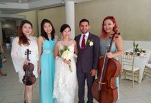 Harp Trio at the Church Wedding of  Samantha & Arvind by Merry Bees Live Music