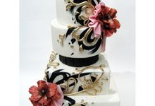 Classic White Wedding Cake by The White Ombré