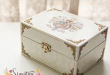 Wedding Ring box for Devin and Winny by Signature Wedding Details