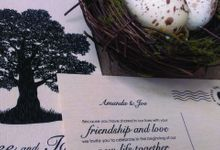 Rustic Wooden Invitations by Amanda Riley Creative