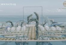 Blue Romantic Mermaid Wedding Ceremony by Bali Wedding Service