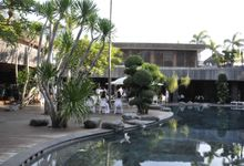 Main Pool Deck Wedding Blessing by Peppers Seminyak