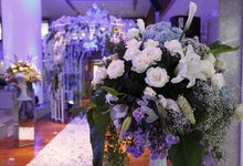 Romantic Blue light Wedding by Jonquilla Decor