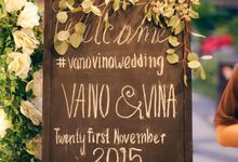 Vina & Vano Wedding Reception by Maheswara