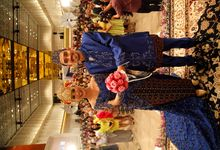Betawi and Javaneese wedding in Blue by acha lasa