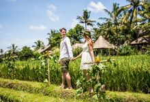BALINESE WEDDING BLESSING IN THE RICE FIELD by Wapa Di Ume