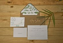 Custom Invitation by Derzia paper