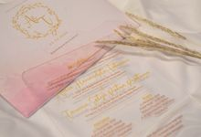 Aulia & Taruna - Acrylic UV Flatbed Wedding invitation with envelope by Keeano Project
