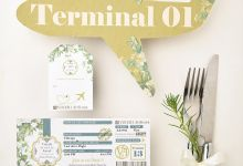 Seed Paper based Travel themed Engagement Stationery by Plantables
