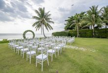 Zen & Tim wedding at Sava beach villas Natai beach by BLISS Events & Weddings Thailand