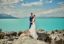 Yuki and Jonathan by Queenstown Pre-Wedding Specialist: James Hirata