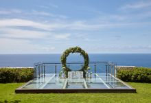 The Glass Stage at Dining Pavilion by Tirtha Bridal