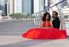 Pre Wed Photoshoot at Marina Bay Sands by Vera Morgana