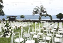 A beautiful lakeside wedding on samosir island lake toba by Lake Toba Wedding