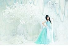 Tiffany Blue ballgown by AR Couture