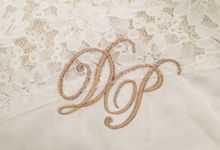 Initial Embroidery and Rhinestone by gingerolive company
