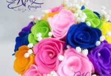 rainbow flower in the box by Kiraz Bouquet