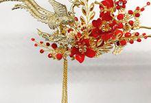 CustomMade Sangjit Fan & Hairpin by Brides Choice