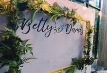 Wedding of Betty and Damis by DENNSA Events