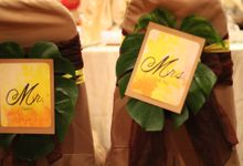 Tropical themed wedding by bliss & glitz