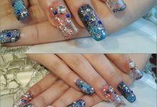 Aquarium Nails (water inside nails) by Florency Nailart
