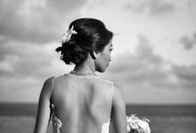 Custom made wedding gown for Shella by Miyuki Liem Bridals