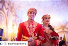 The Wedding Of Alia And Reza by Seserahan by Rose Arbor