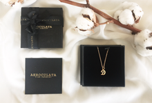 18ct Fine Gold - D Initial Necklace by AEROCULATA